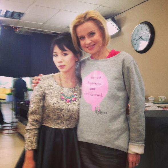 Jolanta Pieńkowska in SDBWD sweatshirt