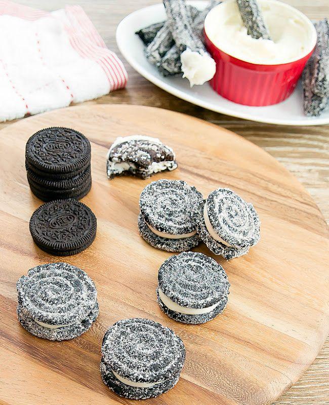 Baked Oreo Churros | Kirbie's Cravings  OMG oreo churros!? What a great idea, I LOVE churros and oreos!