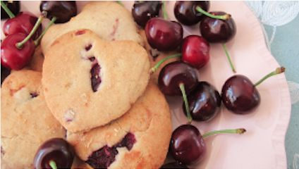 Cherry Shortbread Biscuits   That Little Sparrow