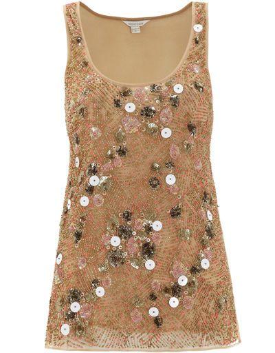 NEW Monsoon Mink Alverton Hand Embellished Sequin Vest Top 12 14 16 18 RRP £99