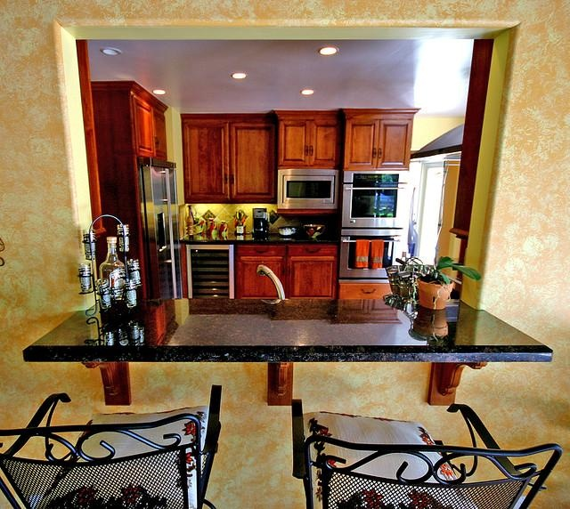 Spencer Low Cost Way To Add In A Breakfast Bar And Open Up Kitchen Some