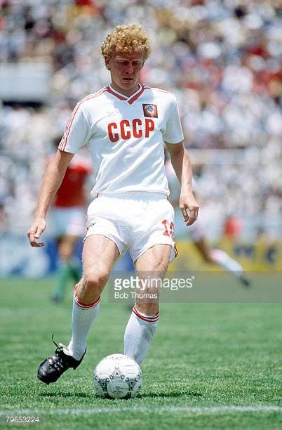 World Cup Finals Irapuato Mexico 2nd June USSR 6 v Hungary 0 USSR's Oleg Kuznetsov