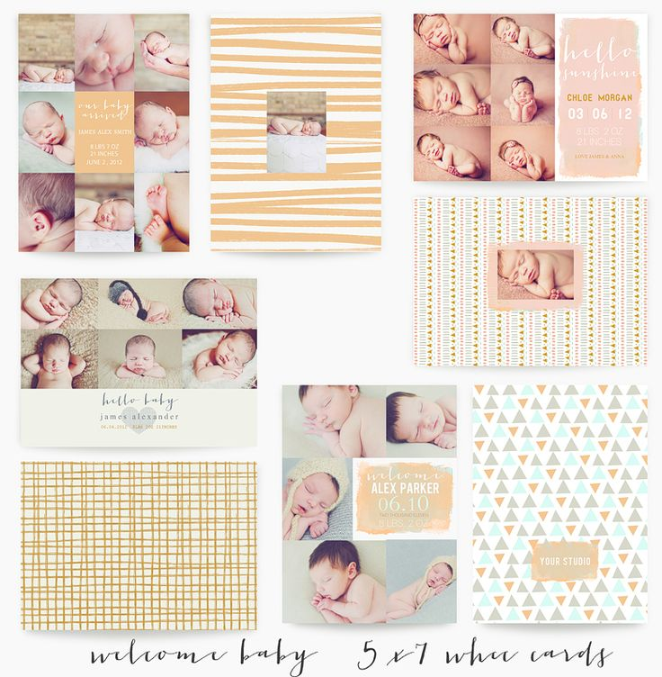 Best Birth Announcements Images On   Birth