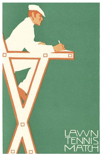 Favorite Pins –Wimbledon – Lawn Tennis Match Vintage Poster // aidamollenkamp.com #pairswellwithfood