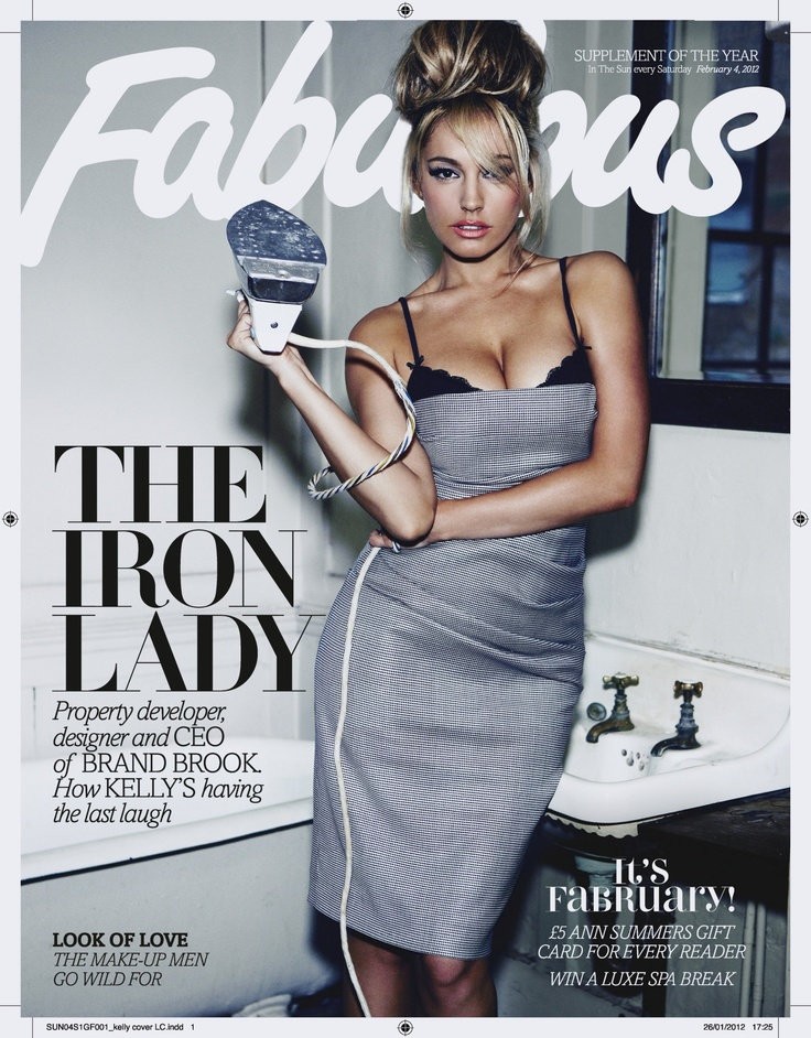 Kelly Brook – Fabulous Magazine (February 2012): Domestic Goddesses, Kelly Brooks, Fabulous Magazines, Blondes Highlights, Spy Gadgets, February 2012, Fashion Photography, Magazines Covers, Hair Buns
