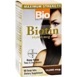 Bio Nutrition Inc Biotin 10000 mcg 60 Tablets
