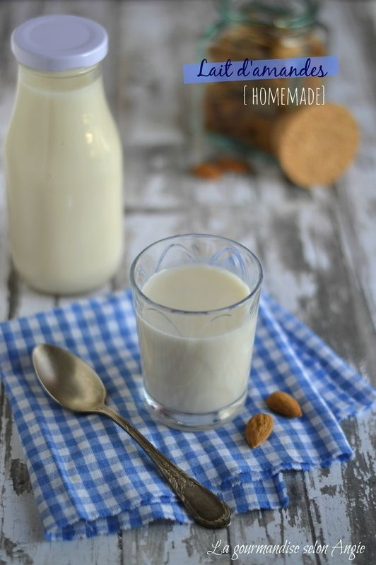 lait d'amandes maison http://www.la-gourmandise-selon-angie.com/archives/2014/06/16/30028602.html #amandes #lait #vegan