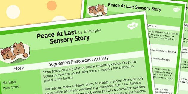 Peace at Last Sensory Story Sheet