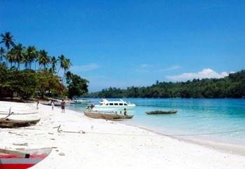 beach in morotai island,indonesia