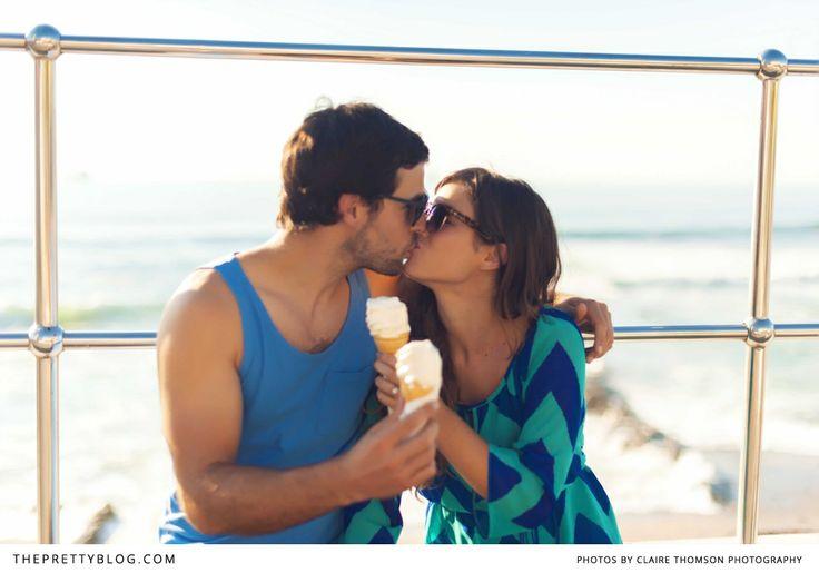 Romantic & fun couple shoot with ice-cream | Photographer: Claire Thomson Photography