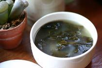 Korean Seaweed Soup (Miyuk gook) Recipe - High in iron and low in calories. Going to try making this for myself with a half-pound of stew meat.