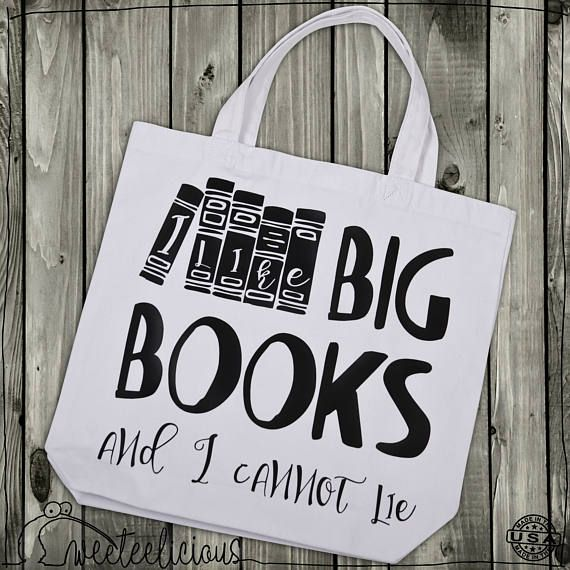 "Personalized Library Bag ""Big Books"""