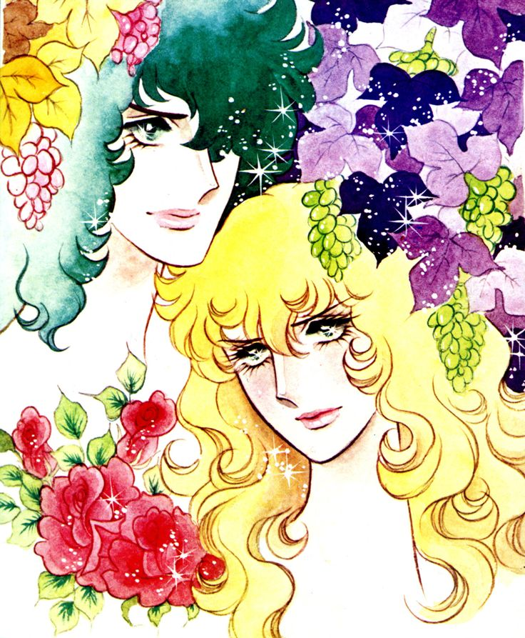 "Oscar and André from ""La Rose de Versaille"" by Ms.Riyoko Ikeda."