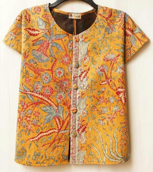 Cropped jacket batik 3N