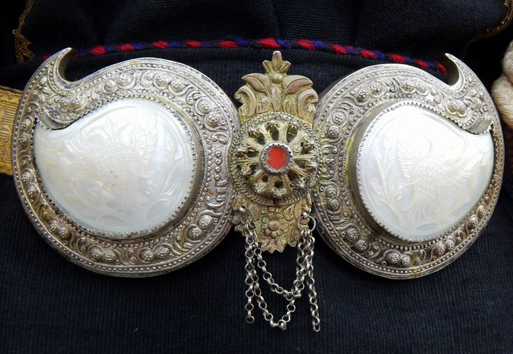 Traditional belt buckle from the Sofia region (Bulgaria).  Late 19th century.