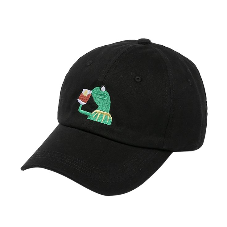 Unisex Mens Tea Hat The Frog Sipping Drinking Tea Baseball Dad Cap DM#6
