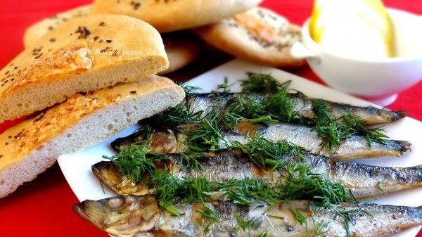 Салака с дымком и с сырными лепешками. Рецепты для пикника в кулинарном блоге Татьяны М.