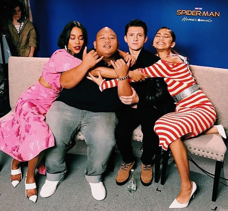 Laura Harrier | Jacob Batalon | Tom Holland | Zendaya | Spiderman | Spider-Man Homecoming press |