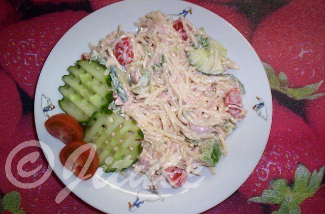 """""""Těstovinový salát I.""""   JITULČINY RECEPTY"""