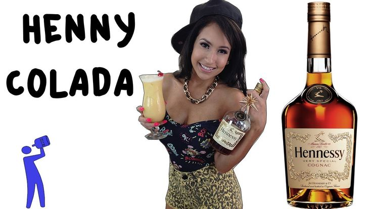 It's time for another crazy cocktail...THE HENNY COLADA. It's similar to a piña colada but it's made with hennessy and it's awesome! An amazing mixture of co...