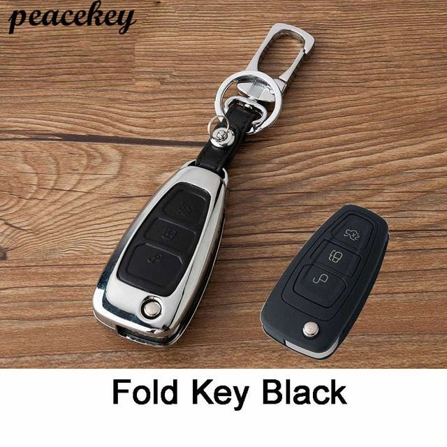 Zinc Alloy Leather Car Styling Remote Key Cover Case For Ford