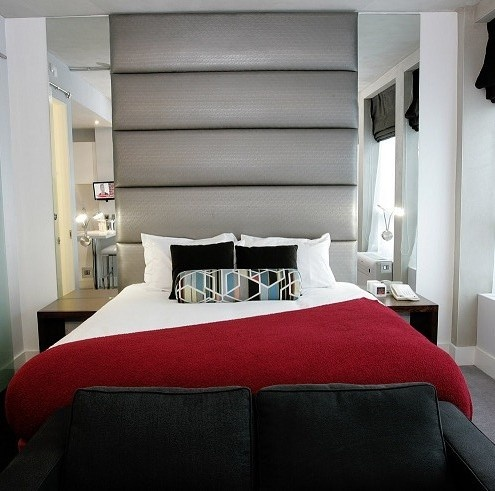 A big red bed at Sandman Signature Hotel Newcastle! What more could you want?