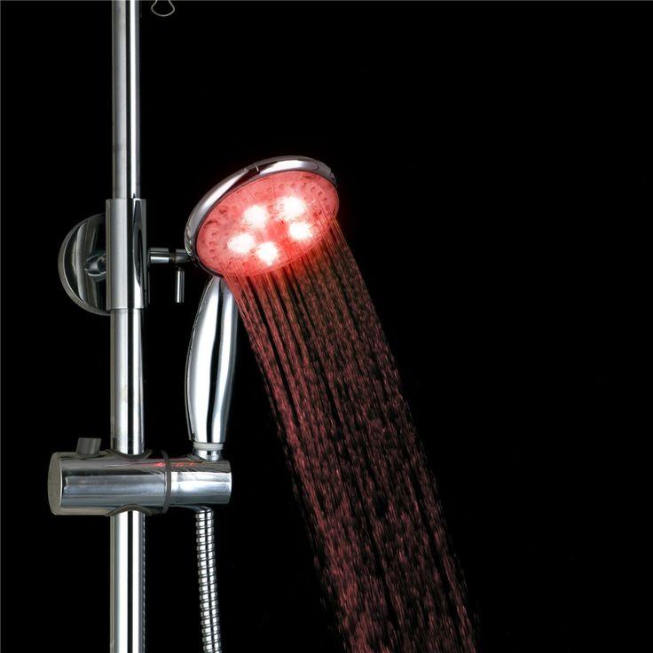 epak 3 Colors Change Led shower ABS Plastic Hand Held Bathroom Led Shower Head Filter Hand Shower Saving Water #Affiliate