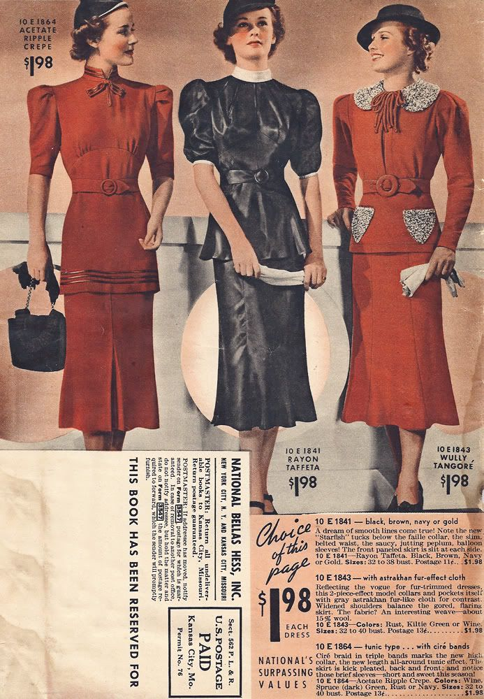 1930s style driving dresses