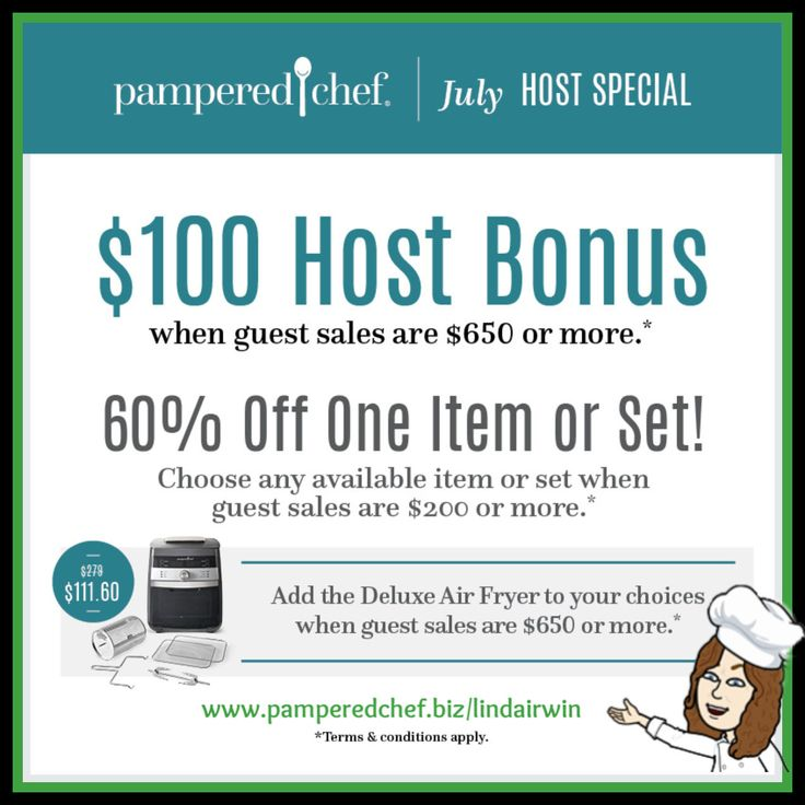 2020 July Host Special Pampered Chef Consultant Pampered Chef Cooking Show