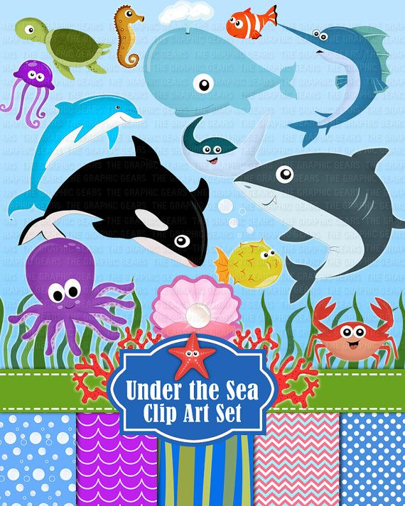 Under the Sea Animals Clip Art Deep Sea Creatures by