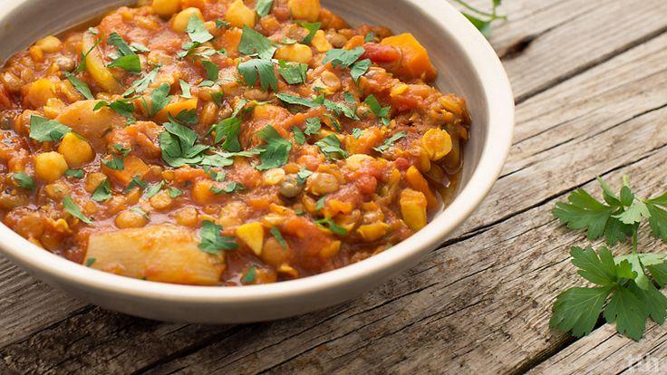 true taste hunters - kuchnia wegańska: Potrawka z soczewicy i cieciorki. Wegańska bomba białkowa :)