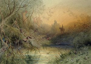 Fantasy Painting - Fairy Land by Gustave Dore