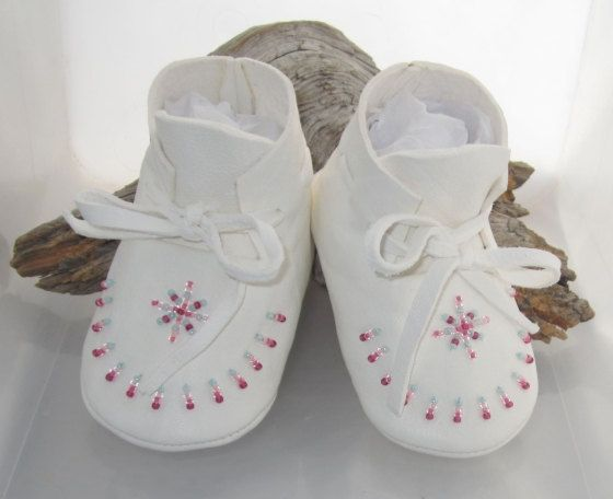 Native American Beaded Baby Moccasins for newborns to 6 months