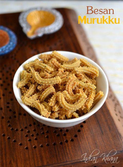 Besan Murukku | Easy Murukku Recipe | Diwali Snacks Recipes ~ Indian Khana