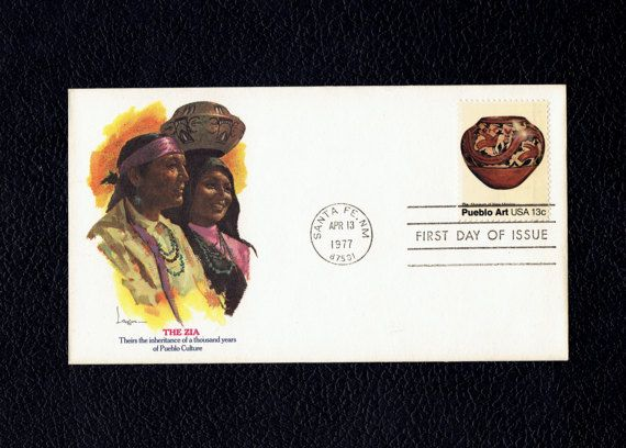 Pueblo Pottery Zia Tribe Apr 13 1977 Santa Fe NM First Day Cover  Scott's US 1708 FDC  Fleetwood Cac