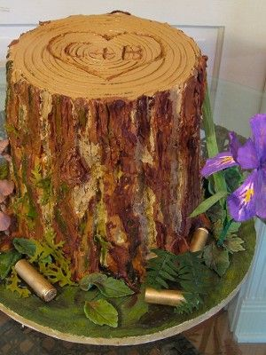 enchanted forest baby shower cake | Top Tree Stump Cakes - Top Cakes - Cake Central