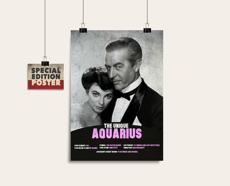 El único acuario arte imprimible signo de la astrología