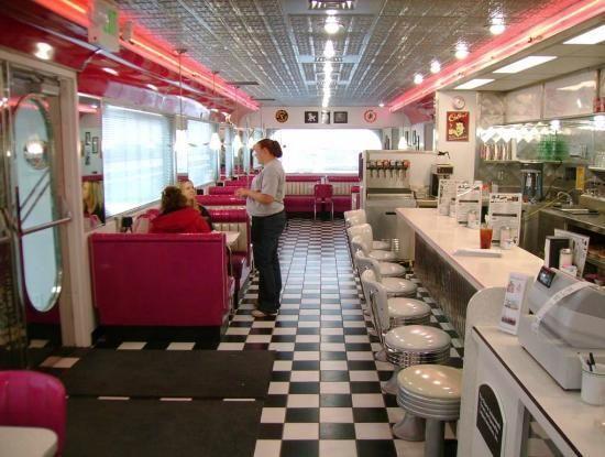 Best diner cafe design images on pinterest