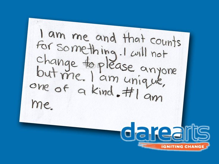 DAREarts kids learn about self image and social media. How can they assert their identity in a positive way? #IAmMe