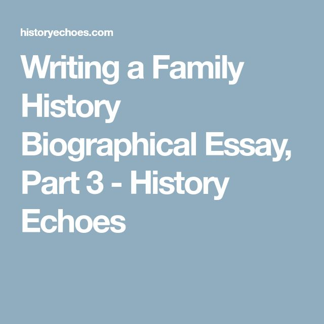 A historical figure biographical essay