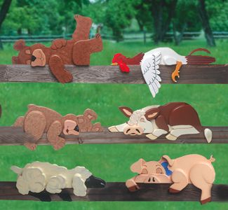 Our Sleepy Pets Woodcraft Pattern