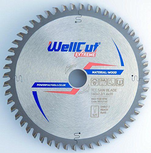 WELLCUT EXPERT lame de scie circulaire 160 x 20 mm x 52T dents alésage et convient pour Festool, BOSCH, Metabo, DeWalt etc..: Diamètre :…