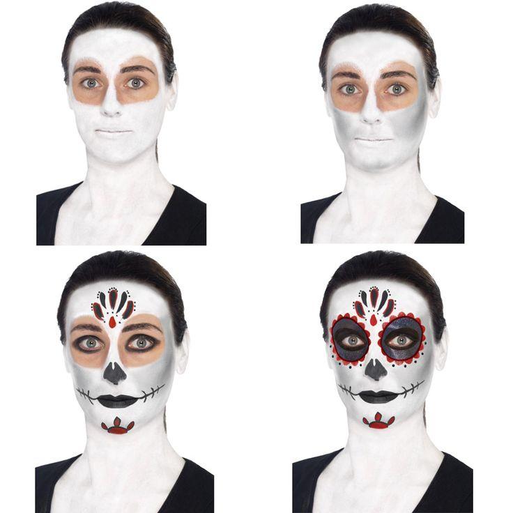 Set maquillage squelette dia de los muertos : manooba, achat de Deguisements…