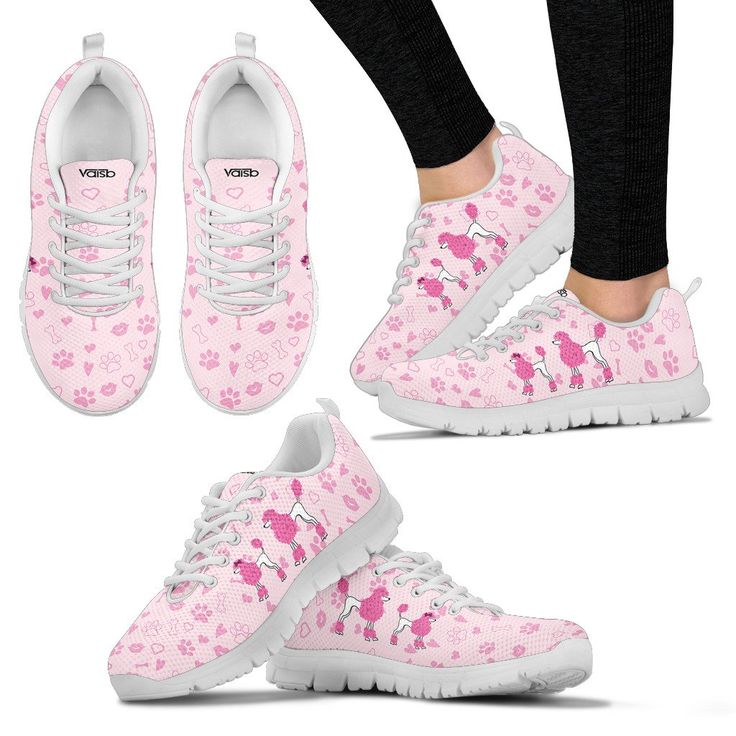 Cute Poodle - Womens Breathable And Lightweight Running Shoes - White