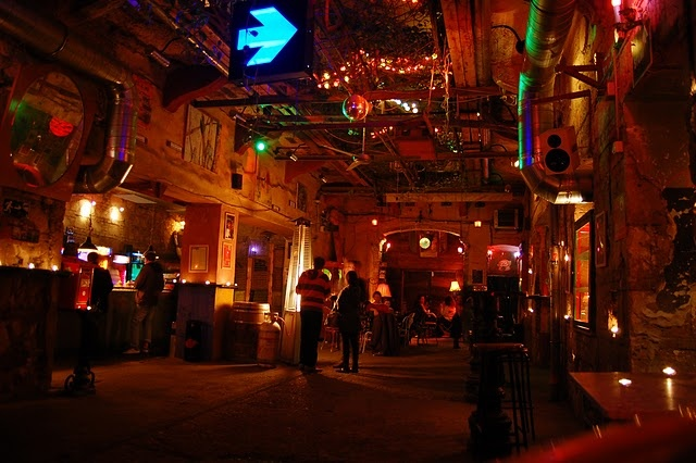 Szimpla Kert in Budapest. One of our favorite places to bring people...
