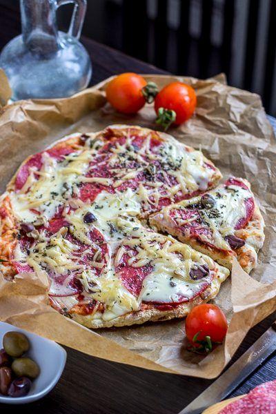 Быстрая пицца на сковороде на кефире — Кулинарные рецепты любящей жены