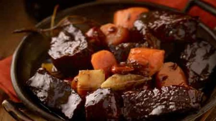 Put pomegranate molasses on stew
