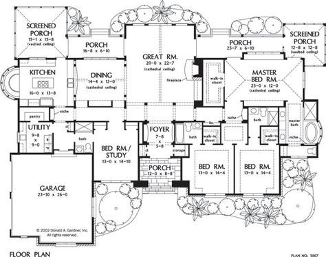 Lots of potential. The Windsor Trace home design is brimming with European flair and features 3,224 square feet all on one level. 4 beds, 4 baths, 3224 sq. ft. Home Design Quick Facts: Spacious kitchen with built-in window seating. Covered and screened porches. Expansive... #europeanluxury #onestory #luxuryhomeplans
