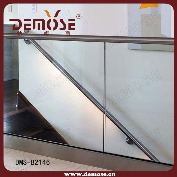 foshan high-quality indoor glass stair railings  prefab metal stair railing $30~$150