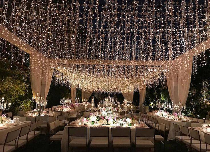 20 Magical Wedding Lights You Just Have To See #weddingreceptiondecor #nighttimeweddingdecor #weddingtwinklelightss
